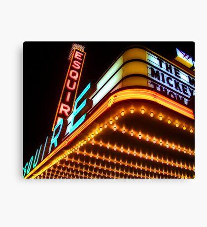 esquire theater, chicago Canvas Print