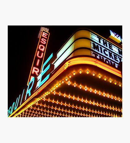 esquire theater, chicago Photographic Print