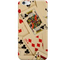 Scattered Pack of Playing Cards Hearts Clubs Diamonds Spades Pattern iPhone Case/Skin