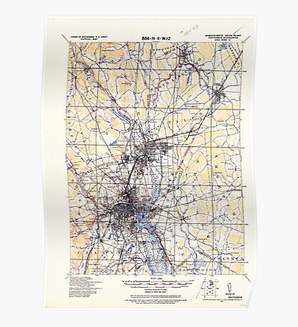 Massachusetts  USGS Historical Topo Map MA Providence 352975 1921 62500 Poster