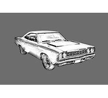 1970 Dodge Charger R/t Muscle Car Illustration Photographic Print