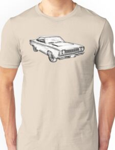 1970 Dodge Charger R/t Muscle Car Illustration Unisex T-Shirt