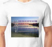 ✿♥‿♥✿PEACE.. A POEM WRITTEN BY BONITA✿♥‿♥✿ Unisex T-Shirt
