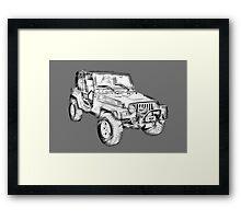 Jeep Wrangler Rubicon Illustration Framed Print