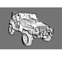 Jeep Wrangler Rubicon Illustration Photographic Print