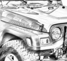 Jeep Wrangler Rubicon Illustration Sticker
