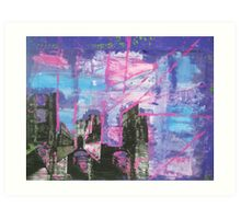 Stone Arches in Pink and Purple sept 2010 Art Print