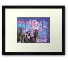 Stone Arches in Pink and Purple sept 2010 Framed Print