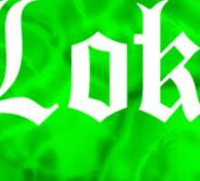 Love Loki (Green Lava) Sticker