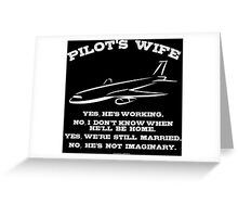 Pilot's Wife Greeting Card