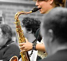 Alara on the sax. by GoldZilla