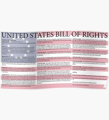 United States Bill of Rights Poster