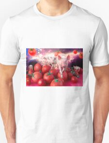 Pigs invasion in tomato Universe T-Shirt