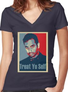 Treat yo Self Women's Fitted V-Neck T-Shirt