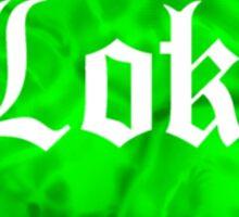 Love Loki on Black (Green Lava) Sticker