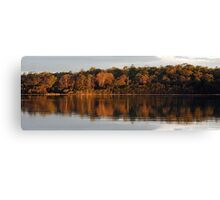 Tamar River Reflections - Blackwall, Tasmania Canvas Print