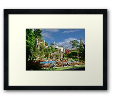 Central Plaza, Portmeirion, North Wales, UK Framed Print