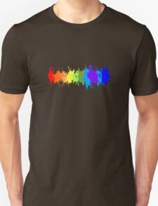 Customize rainbow paint splash drips gay pride geek funny nerd Unisex T-Shirt