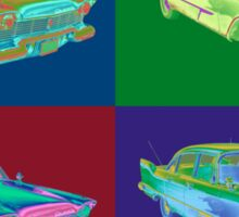 1958 Plymouth Savoy Classic Car Pop Art Sticker