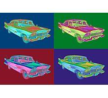 1958 Plymouth Savoy Classic Car Pop Art Photographic Print