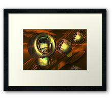 Landing on the red planet Framed Print