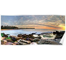 New World In The Morning - Warriewood Beach, Sydney - The HDR Experience Poster