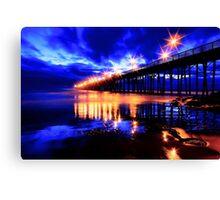 Oceanside Pier After Sunset Canvas Print