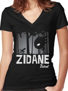 Zidane Tribal Women's Fitted V-Neck T-Shirt