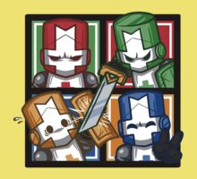 Castle Crashers Four-Square Baby Tee