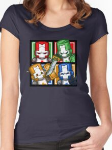 Castle Crashers Four-Square Women's Fitted Scoop T-Shirt
