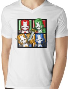 Castle Crashers Four-Square Mens V-Neck T-Shirt