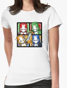 Castle Crashers Four-Square Womens Fitted T-Shirt