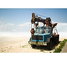 Constructing in the Desert Photographic Print