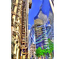 The Lloyds Building - The Gherkin - The Willis Building - HDR Photographic Print