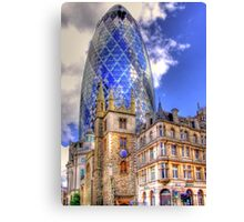 "30 St Mary Axe - The ""Gherkin"" - HDR Canvas Print"