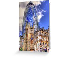 """30 St Mary Axe - The """"Gherkin"""" - HDR Greeting Card"""