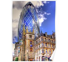 """30 St Mary Axe - The """"Gherkin"""" - HDR Poster"""