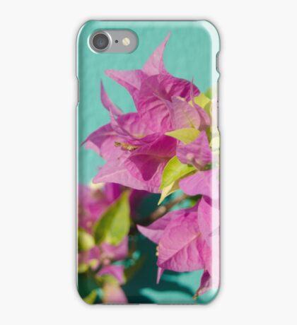 Pink flora iPhone Case/Skin