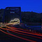 Bethanga Bridge night lights by John Vandeven