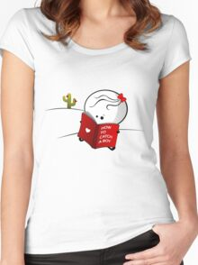 How to catch a boy Women's Fitted Scoop T-Shirt