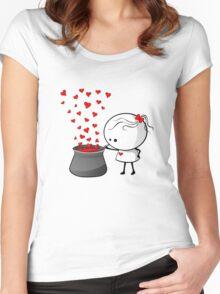 Secret love formula Women's Fitted Scoop T-Shirt