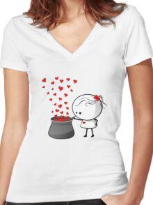 Secret love formula Women's Fitted V-Neck T-Shirt