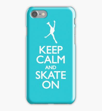 Keep calm skate on iPhone Case/Skin