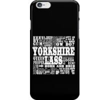 YORKSHIRE LASS WHITE PRINT iPhone Case/Skin