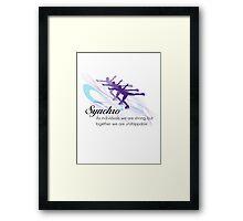 Synchro Framed Print