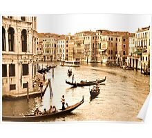 Scene in Venice Antique look Poster