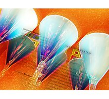 blue glass Photographic Print