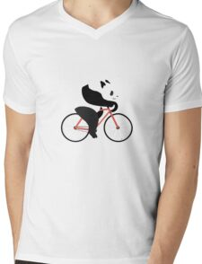 Cycling panda geek funny nerd Mens V-Neck T-Shirt