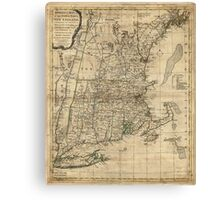 Bowles's Map of the Seat of War in New England (1776) Canvas Print