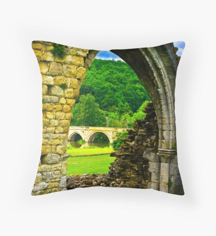 Through the Archway Throw Pillow